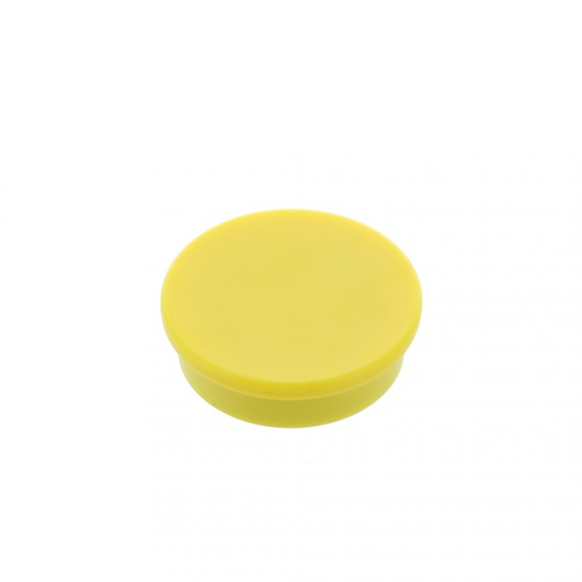 Kancelářský magnet, neodym, kulatý, žlutý