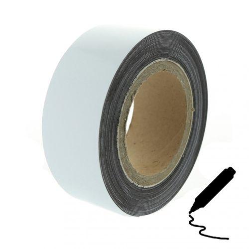 Magnetická páska 10 m, bílá lesklá (flipchart povrch)