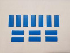 Magnetické štítky, modré matné