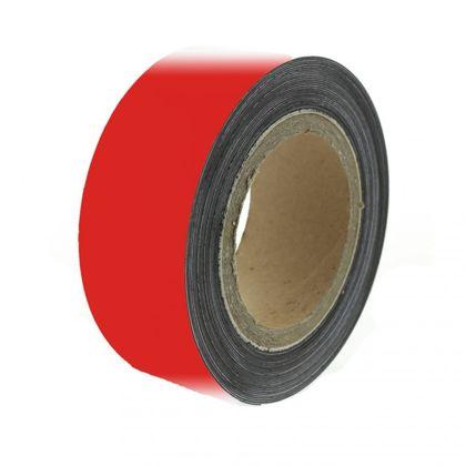 Magnetická páska 10 m, červená matná