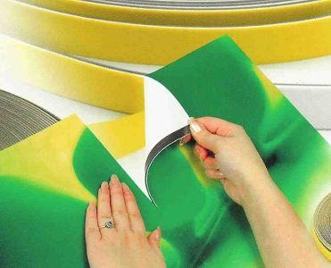 Magnetická páska anizotropní pro výstavnictví, samolepící