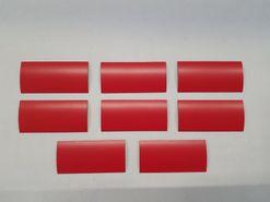 Magnetické štítky, červené matné